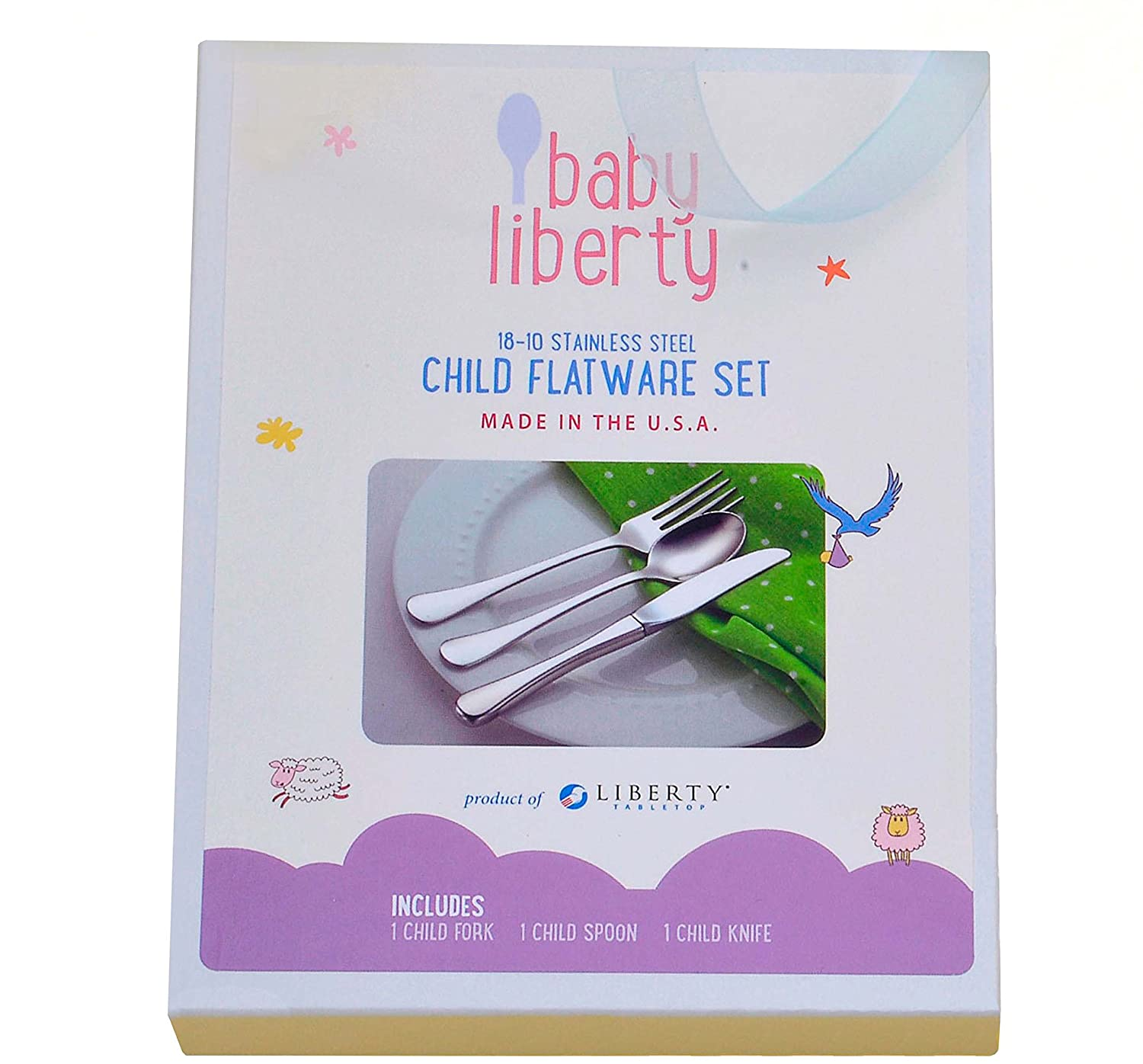 Baby Liberty 3 Piece Child Flatware Set in Gift Box by Liberty Tabletop   B01BPEJ5QE
