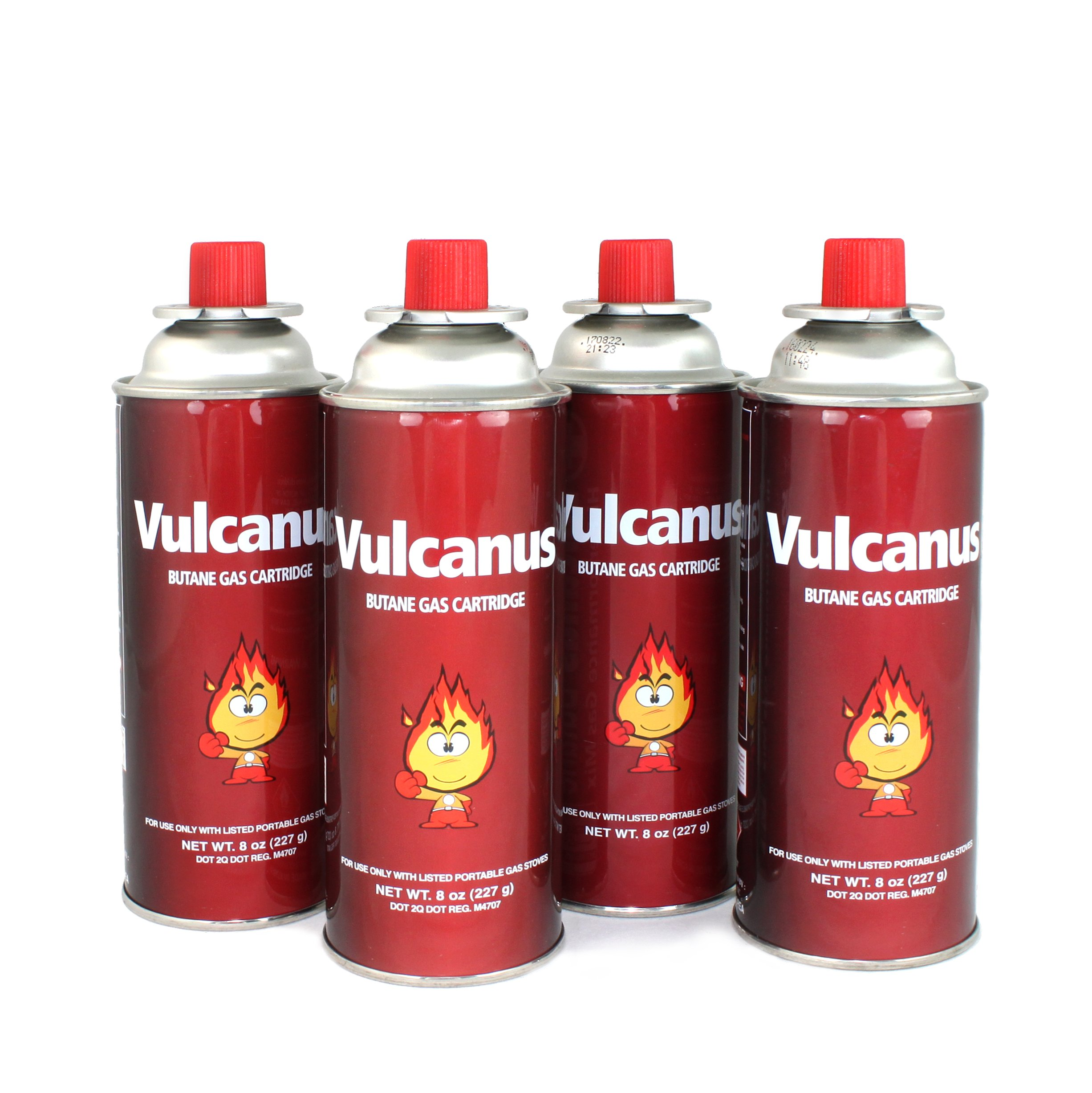 [ 4 Cans ] ROM AMERICA Vulcanus Butane Gas Cartridge Fuel Canister Camping Stoves