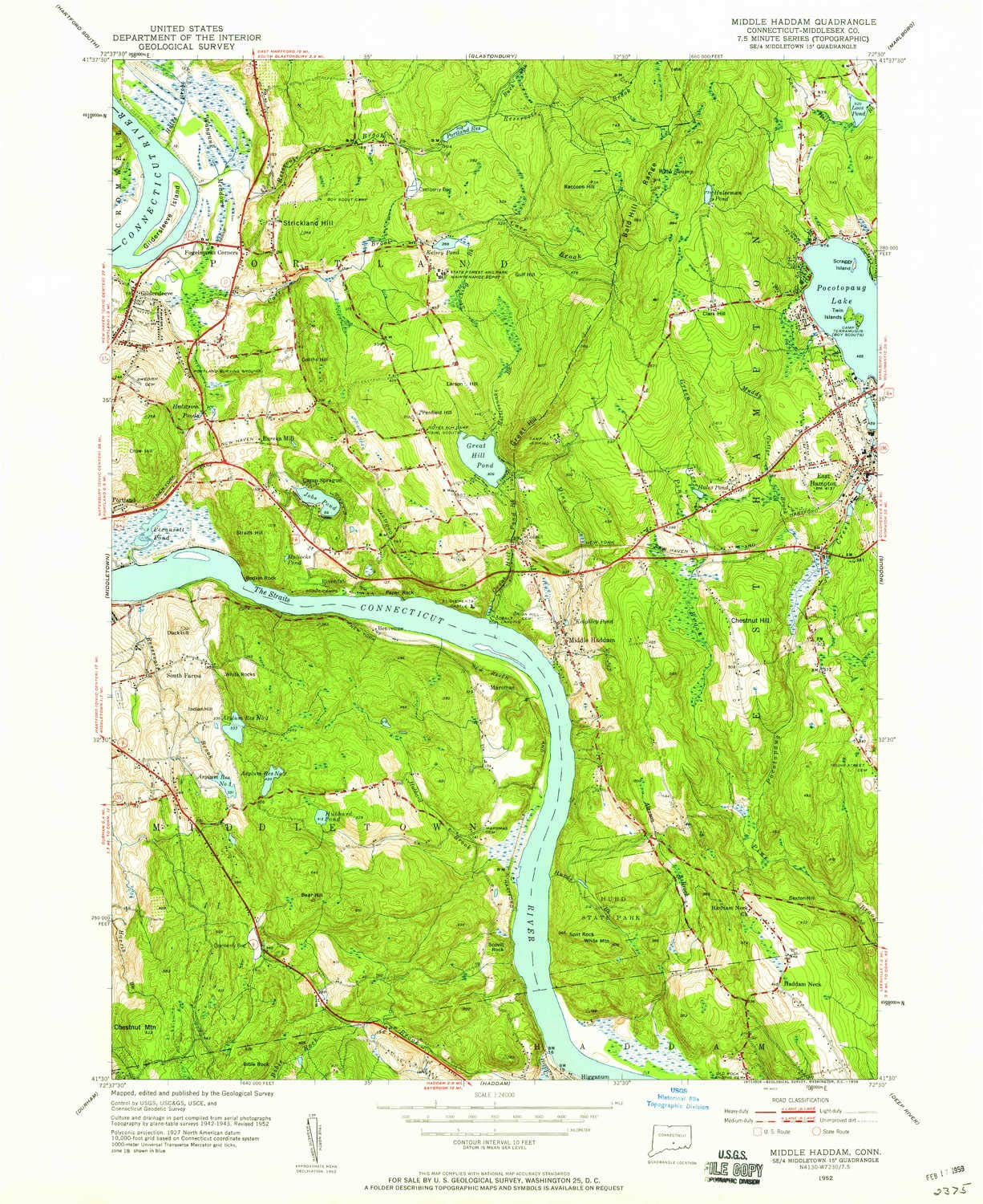 Amazon com : YellowMaps Middle Haddam CT topo map, 1:24000