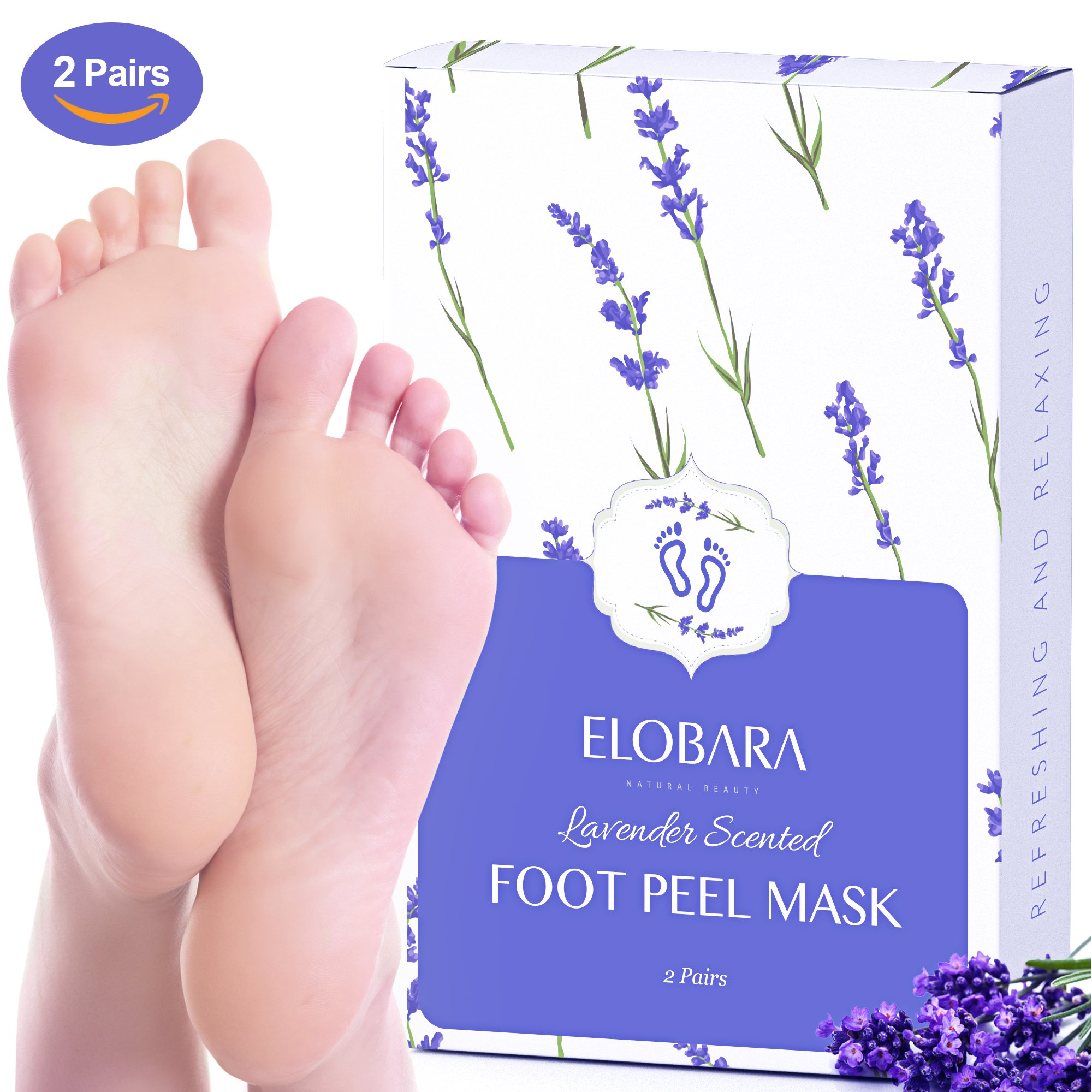 Foot Peel Mask, Exfoliating Calluses and Dead Skin for Soft Baby Feet, 2 Pairs, Repair Rough Heels Painlessly, Leave Your Feet Moisture and Smooth by Elobara (Image #1)