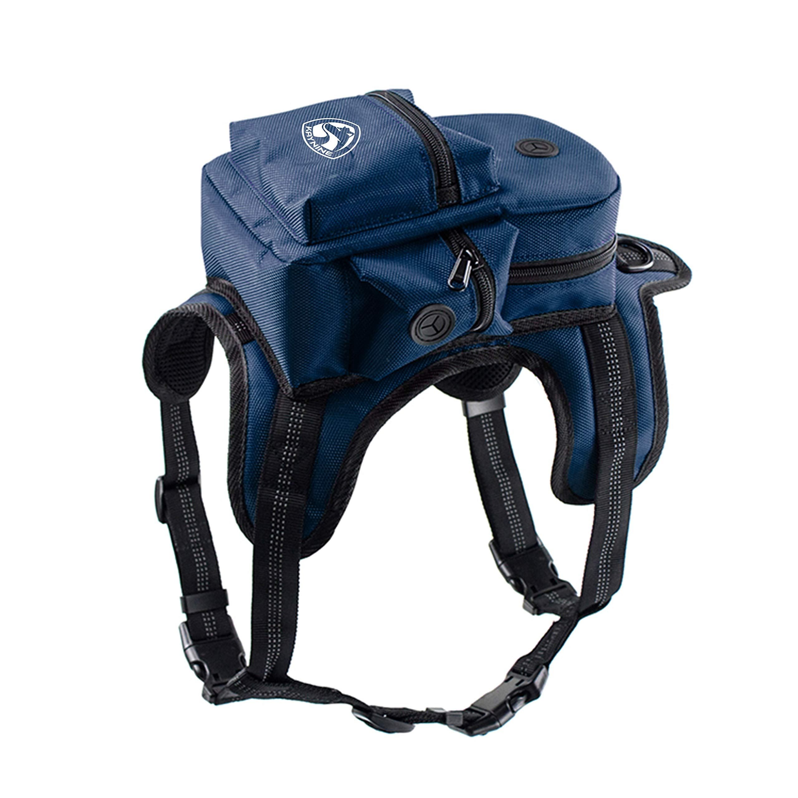 Kaynine Dog Backpack for Travel Camping Hiking. (Small, Blue)