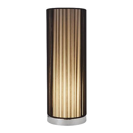 [lux.pro] Lámpara de mesa - negro, cromo - Ø 15 cm (E14)