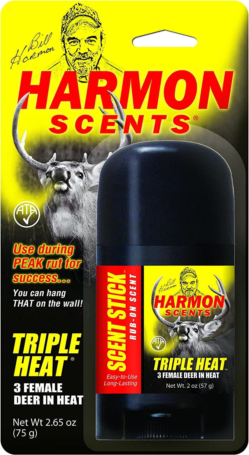 Harmon Scents - Triple Heat Female in Heat - Rub On Scent Stick - HTHSS - Whitetail Hunting Urine - Deer Hunting Attractant and Lure - Doe Estrous Scents