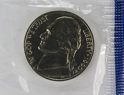 1990  P//D  Jefferson Nickel SET IN MINT CELLO