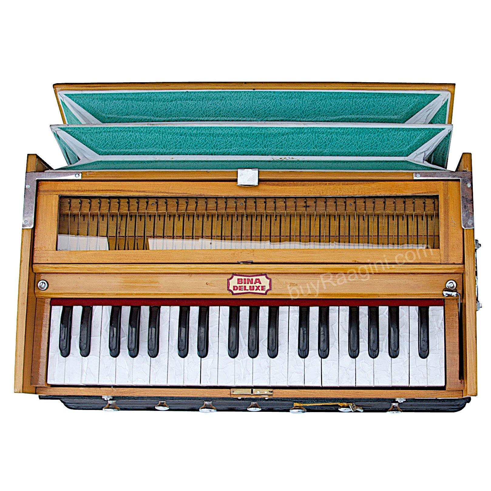 Harmonium Musical Instrument, BINA No. 8, 7 Stops, 3 1/4 Octaves, Coupler, Tuned To A400, Double Reed, Natural Color, Book, Nylon Bag (PDI-DJF) by Bina (Image #4)