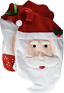 fb868869be9d9 GIM Christmas Kitchen Chair Slip Covers Featuring Mr   Mrs Santa Claus for  Holiday Party Festival