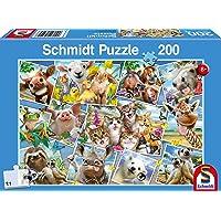 Schmidt - SCH-56294 - Dieren Selfies, 200 stukjes Puzzel - vanaf 8 jaar - dieren puzzel