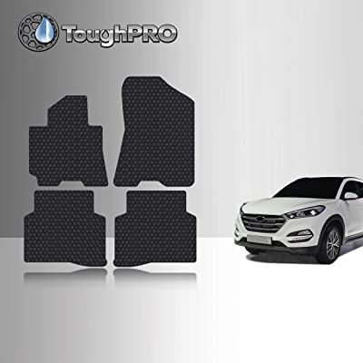 TOUGHPRO Floor Mat Accessories Set (Front Row + 2nd Row) Compatible with Hyundai Tucson - All Weather - Heavy Duty - (Made in USA) - Black Rubber - 2016, 2020, 2020, 2020, 2020: Automotive