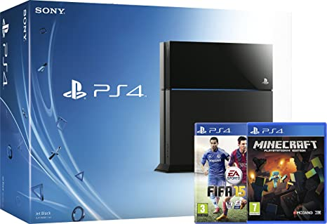 Sony PlayStation 4 Console with FIFA 15 and Minecraft (PS4): Amazon