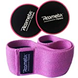 Roometix Hip Circle Resistance bands and core Sliders Set - Glute Workout Activation Bands For Women, Non-Slip And Heavy Hip Bands With Gliding Disc - CrossFit And Booty Building