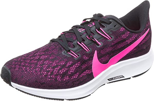 Nike Air Zoom Pegasus 36, Zapatillas de Running para Mujer, Negro (Black/Pink Blast-True Berry-WH 009), 42 EU: Amazon.es: Zapatos y complementos