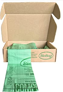 BioBg Compostable Countertop Kitchen Food Scrap Bags, 2.6 Gallon, 100 Count