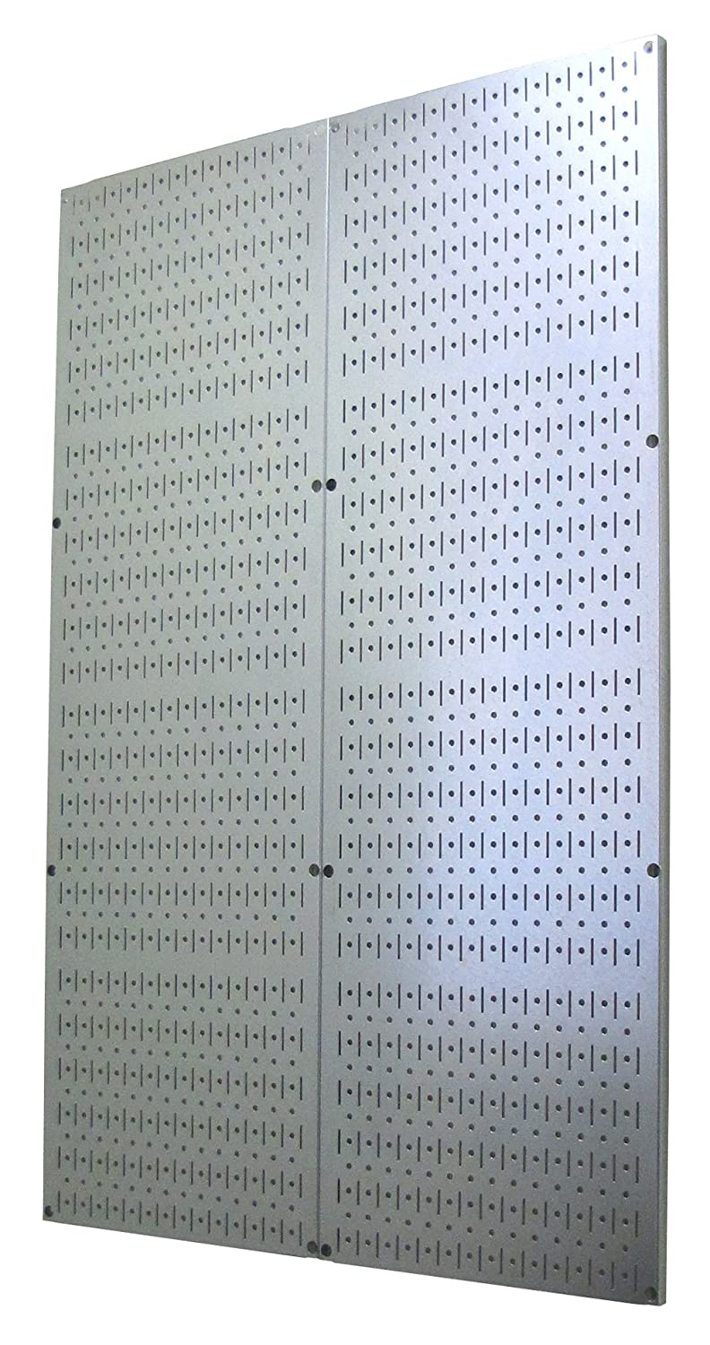 4 Foot Pegboard Sheets with Formed Edges by Wall Control Pegboard – Two Pack of 16in x 48in Metal Pegboard Panels 30-P-4832 GV