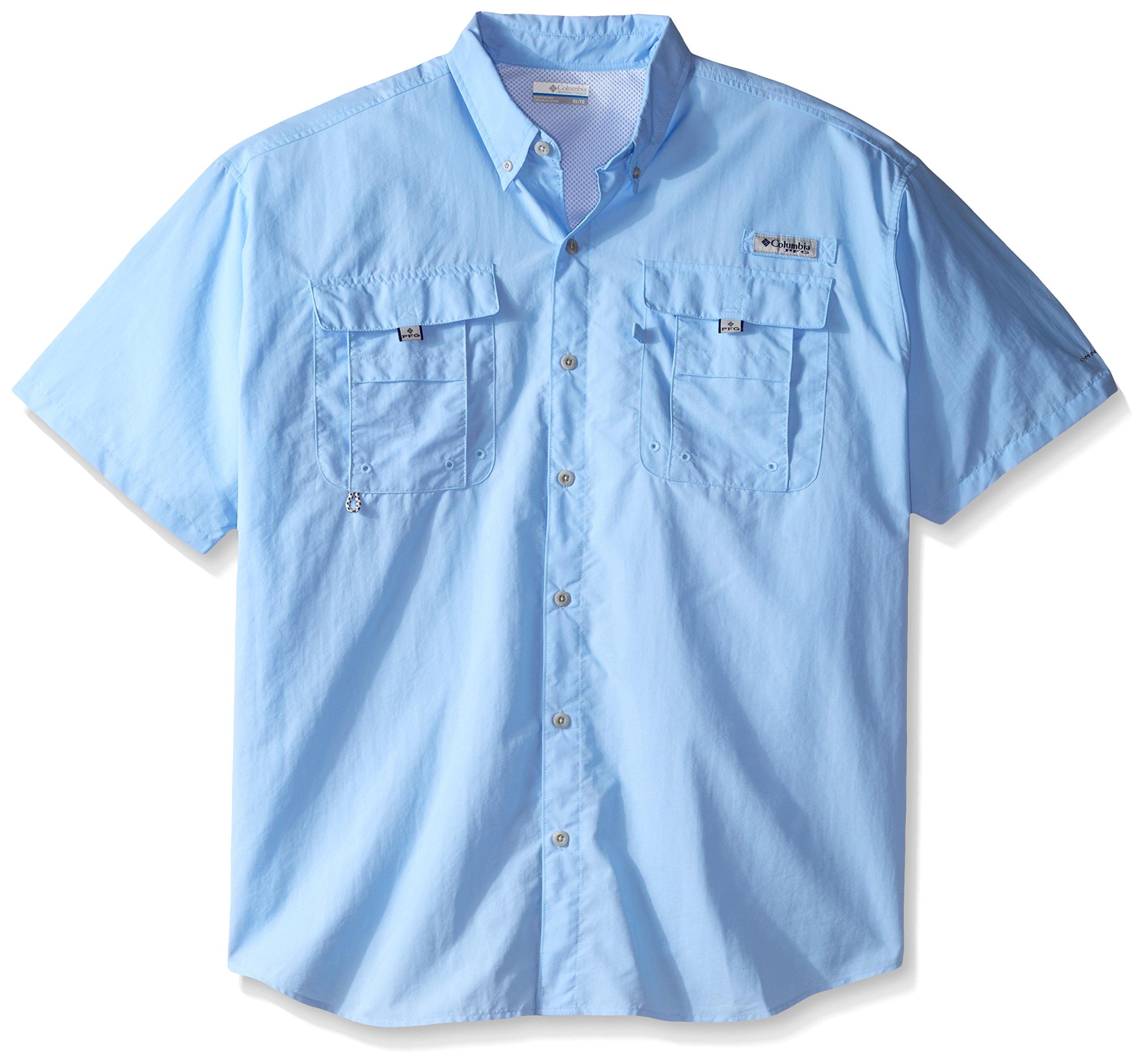 Columbia Men's Bahama II Short Sleeve Fishing Shirt (Sail, 2XT)