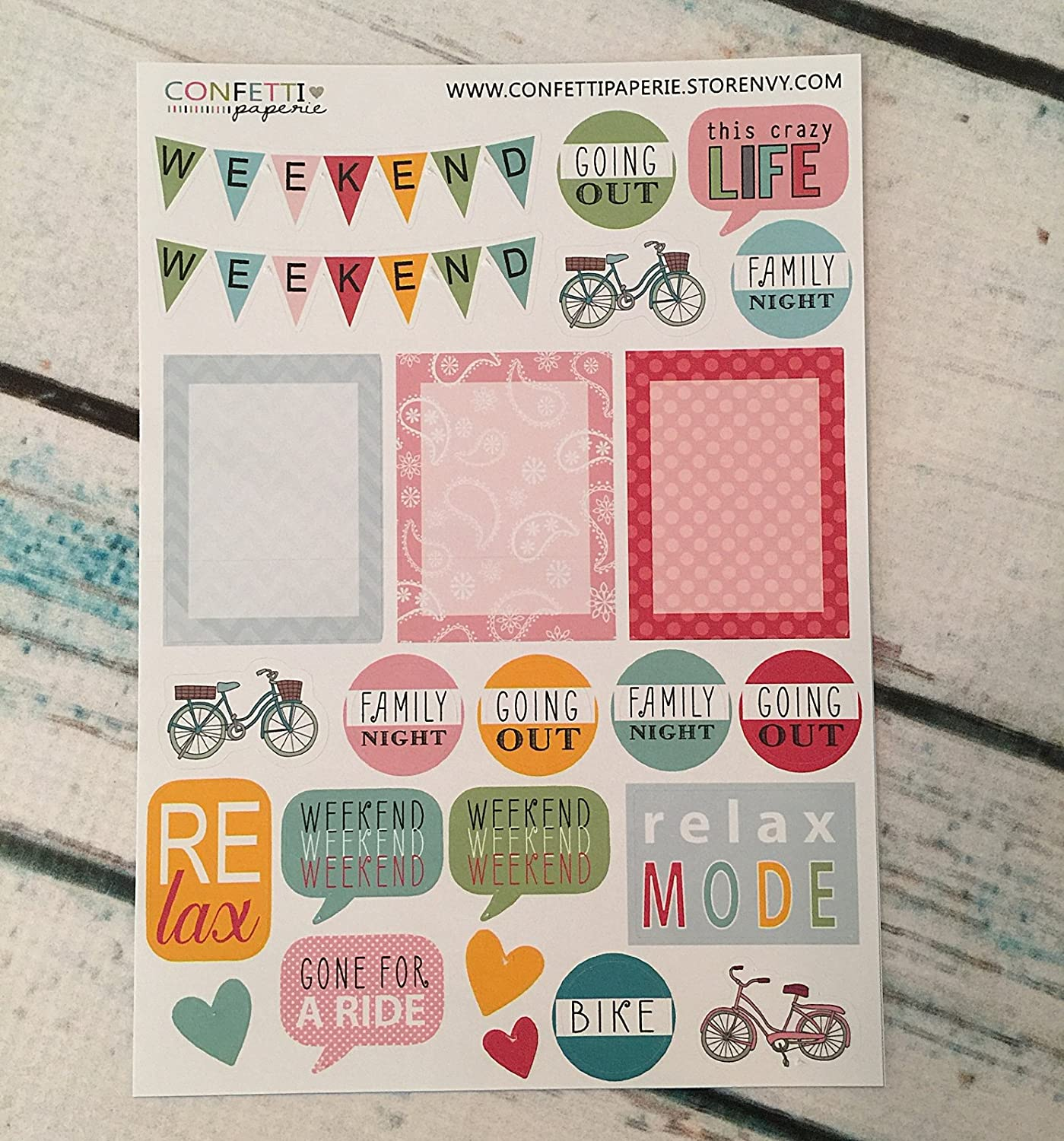 Amazon.com: Weekend, Family Time Planner Stickers,Erin ...