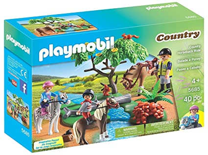 Amazon.com: Playmobil Pony Farm and Country Horseback Ride ...