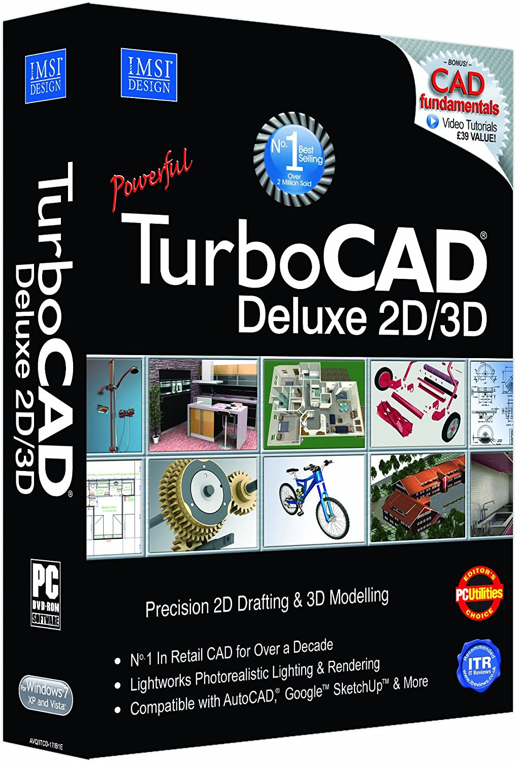 Avanquest TurboCAD Deluxe 17 - Software de diseño automatizado (CAD) (PC, Pentium IV, 300 MB, 2 GHz, 2000 MB, - 300 MB of free hard disk space depending on accessory applications installed, 64 MB of swap...): Amazon.es: Software