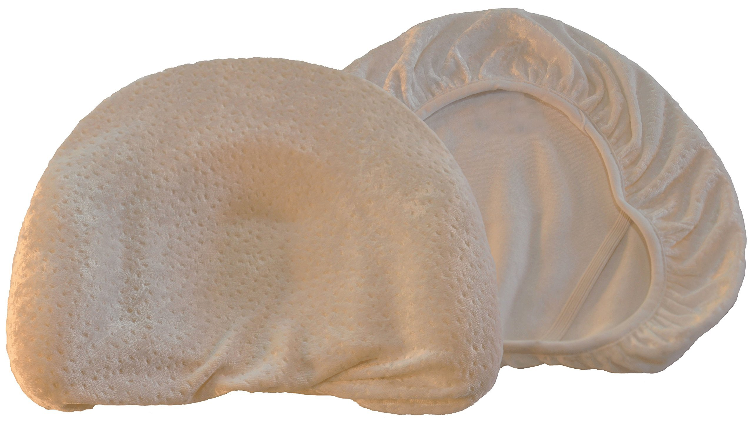 Baby Head Shaping Memory Foam Pillow & Pillowcase. Luxury Baby Shower Gift to KEEP a baby's head round. Prevent Plagiocephaly. (Extra Pillowcase) by Baby Love USA (Image #2)