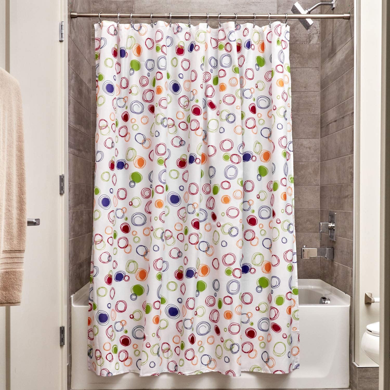 Interdesign Fabric Doodle Shower Curtain For Master Guest