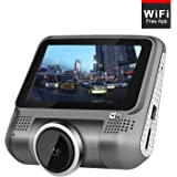 """3.0"""" Dash Cam pro with WiFi 1080p Dashboard Camera for Car ultra Degree Wide Angle Car DVR Vehicle with G-Sensor WDR Loop Recording"""