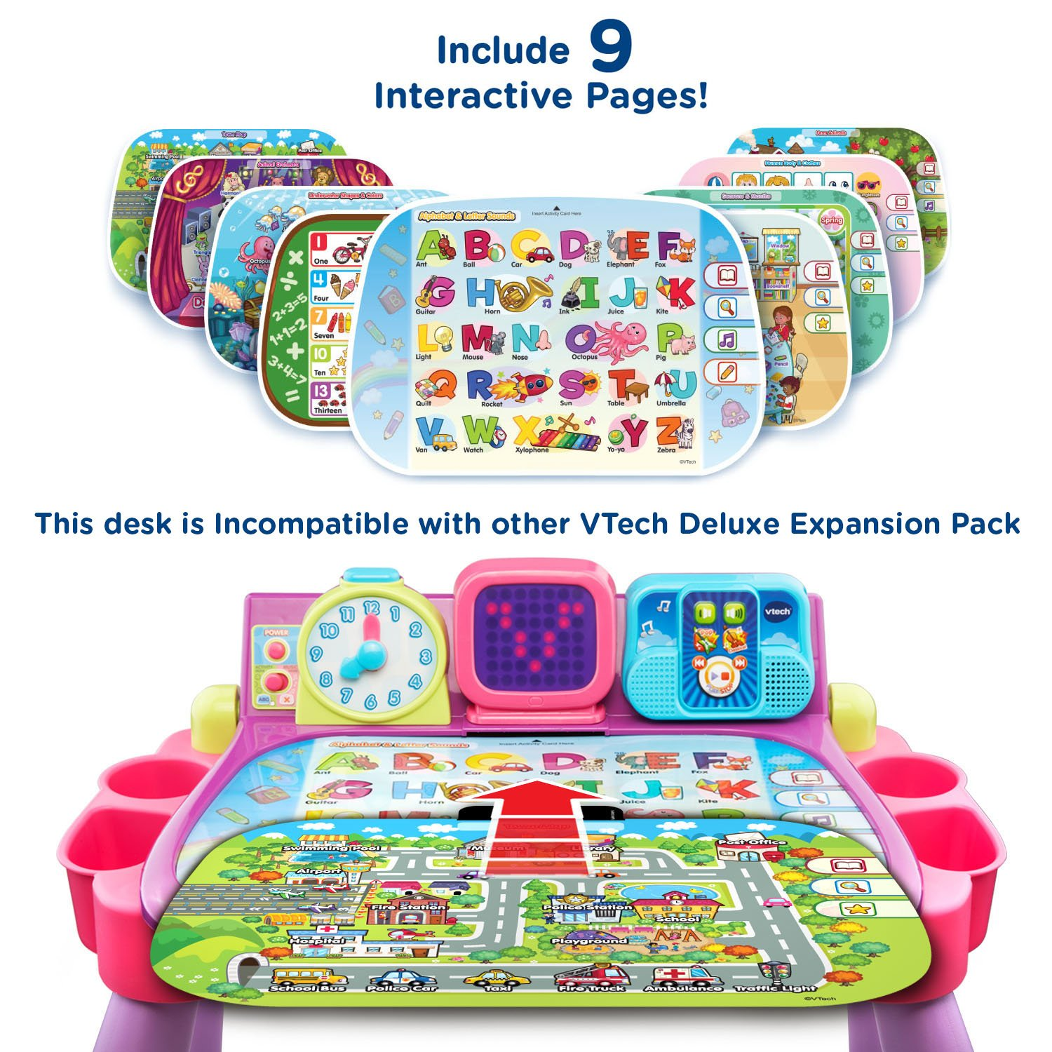 VTech Touch and Learn Activity Desk, Purple by VTech (Image #6)