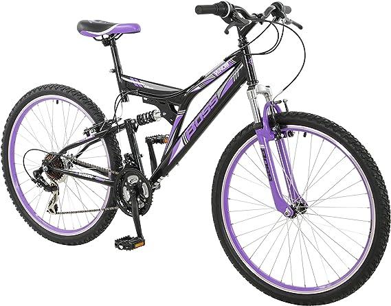 BOSS de la Mujer Venom para Mujer para Bicicleta de montaña, Negro y Morado, 26: Amazon.es: Deportes y aire libre