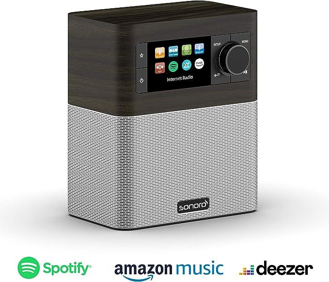 Sonoro Stream Internetradio Für Küche Und Bad Ukw Fm Dab Bluetooth Wlan Spotify Amazon Deezer Spritzwassergeschützt Mooreiche Silber 2020 Heimkino Tv Video