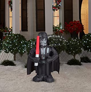 star wars darth vader lighted airblown inflatable christmas santa - Star Wars Christmas Yard Decorations