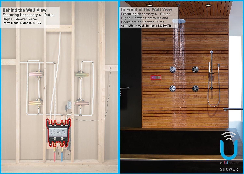 Moen S3102 Bathroom Shower U By Moen Digital Shower Valve 2 Outlet      Amazon.com