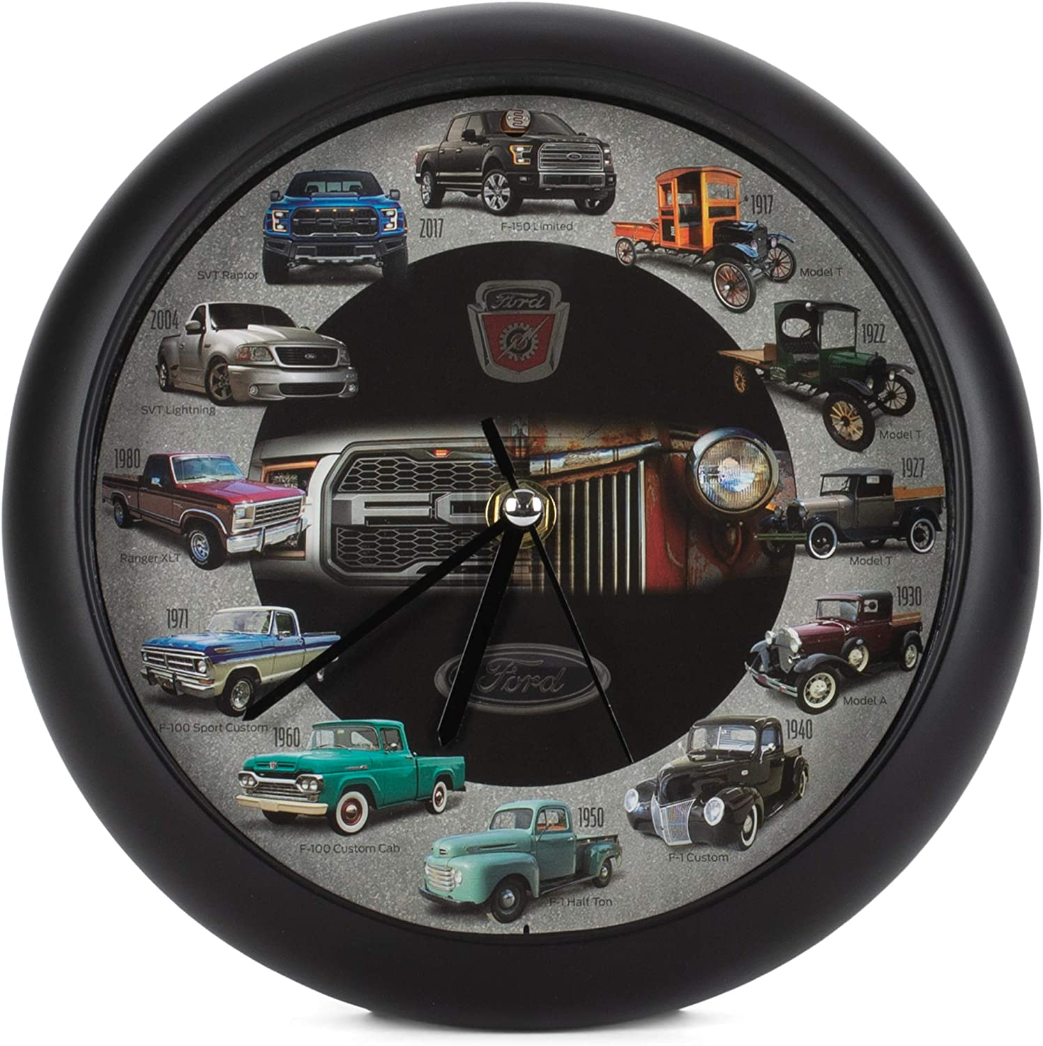 Mark Feldstein History of Ford Trucks Model T - F150 Sound Wall Clock, 8 Inch