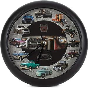 Mark Feldstein History of Ford Trucks Model T - F150 Sound Wall Clock, 8 Inch