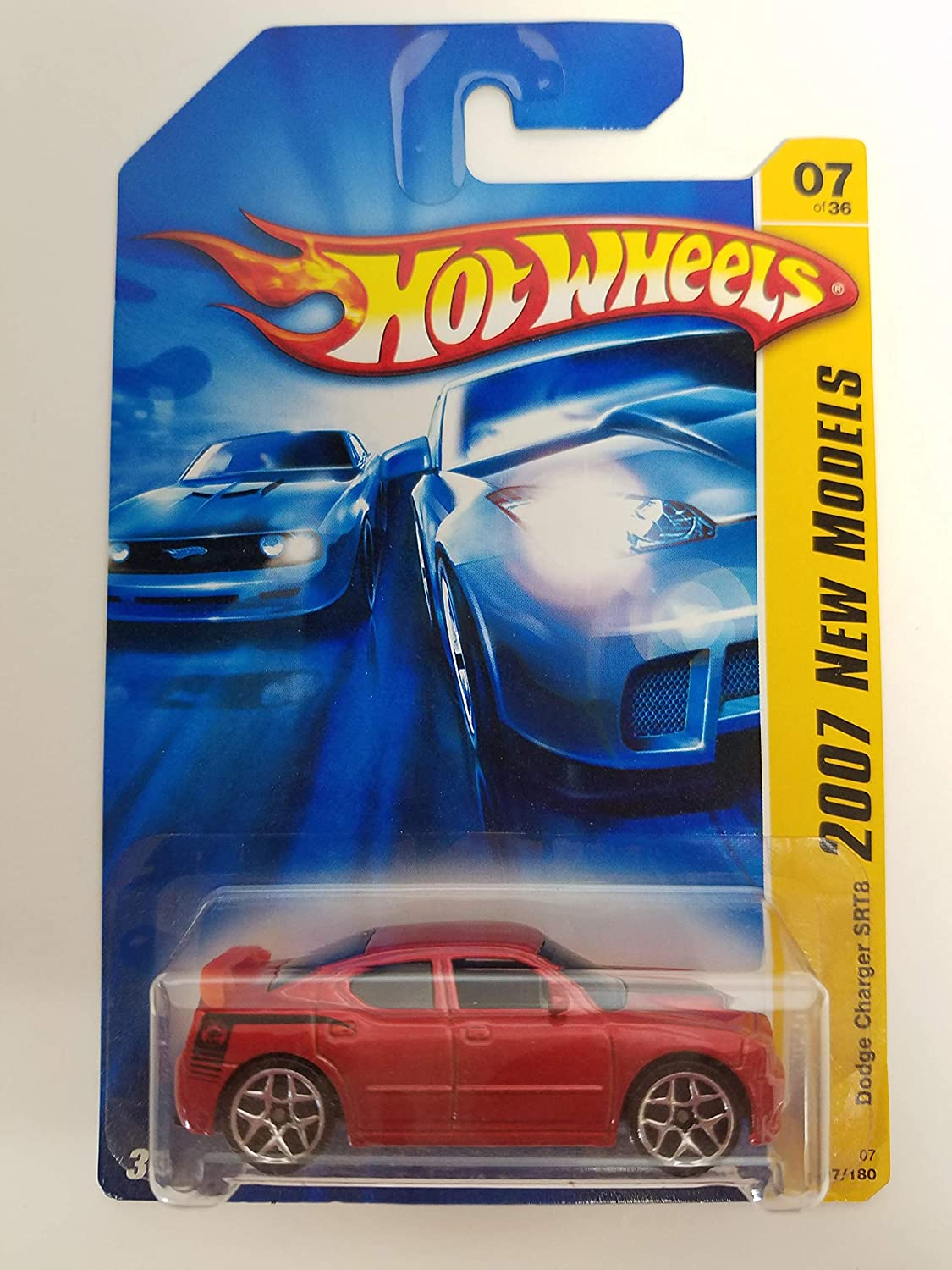 Dodge Charger SRT8 Red Color 2007 New Models 7 of 36 Hot Wheels diecast car No.007