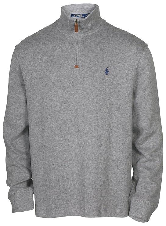 Polo Ralph Lauren suéter de algodón con Media Cremallera y ...