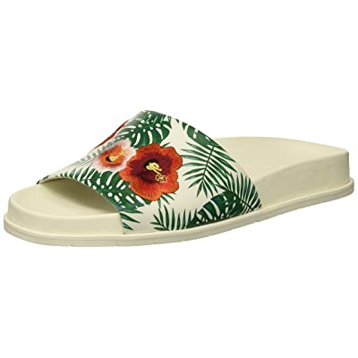 Kenneth Cole New York Women's Xenia Palm Print Embroidered Pool Slide Sandal | Sport Sandals & Slides