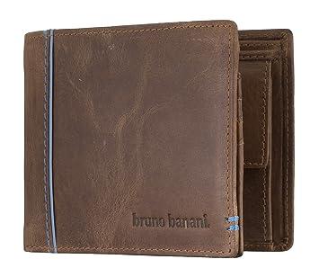 8edcd61eecba6 bruno banani Männer Geldbörse aus Echt Leder im Querformat