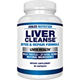 Liver Cleanse Detox & Repair Formula – 22 Herbs Support Supplement: Milk Thistle Extracts Silymarin, Beet, Artichoke…