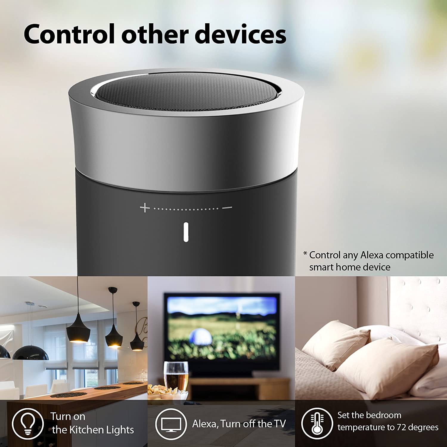 bluetooth smart home devices. portable wifi u0026 bluetooth speaker with amazon alexa voice control online music streaming spotify tunein iheartradio smart home devices h