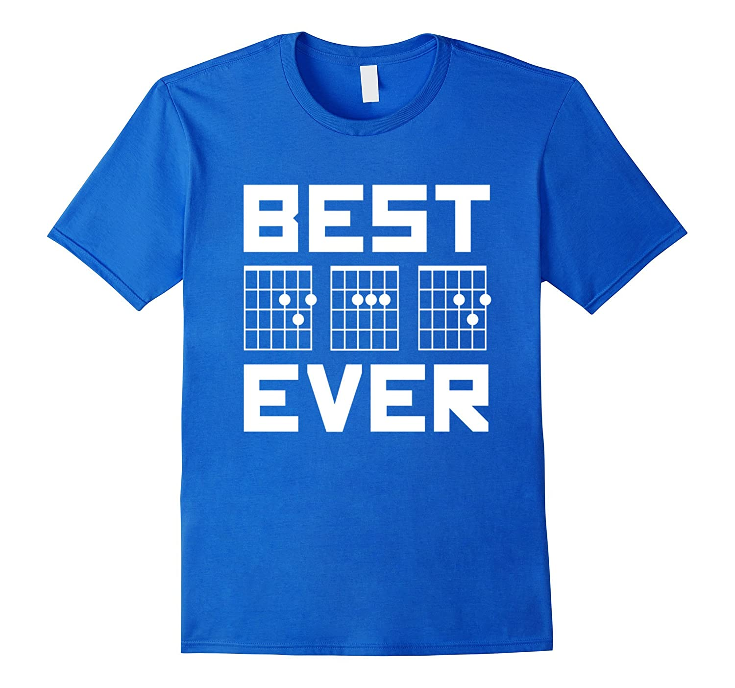 Mens Best Dad Ever Guitar Chords For Musician Father T Shirt