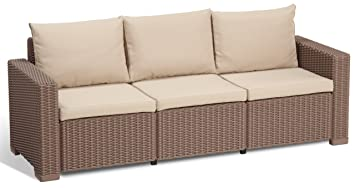 Amazonde Allibert Lounge Sofa California 3 Sitzer Cappuccinosand