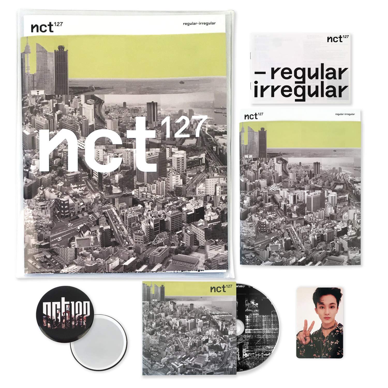NCT 127 1st Album - NCT # 127 Regular-Irregular [ REGULAR ver. ] CD + Booklet + Lyrics Book + Photocard + F.G