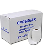 EPOSGEAR® 20 Rolls of 57 x 40 mm Thermal PDQ Receipt Paper - For Worldpay, Ingenico, Verifone and more Credit Card Machines and Streamline Terminals