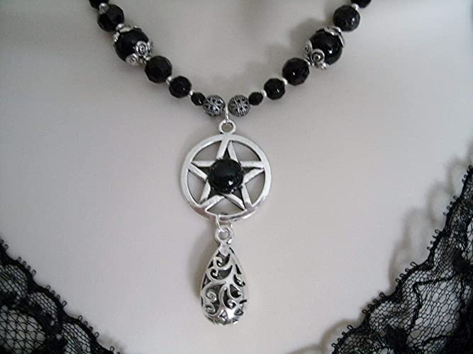 Mens Pagan jewelry Wiccan necklace Pentacle necklace Celtic necklace Pagan necklace Wiccan jewelery Pagan jewelery Witchcraft Metaphysical