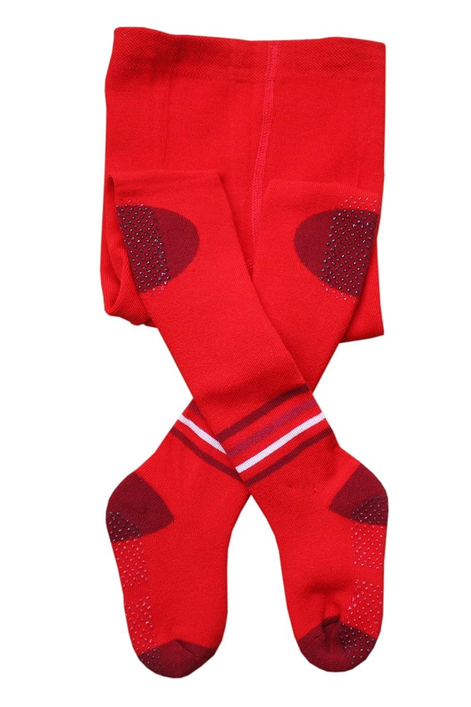 ABS Collants pour enfants anti-glissement, Peluches: Taille: 0-3 Mois (56/62), Couleur: Rouge. Prix a partir du fabricant. Weri Spezials