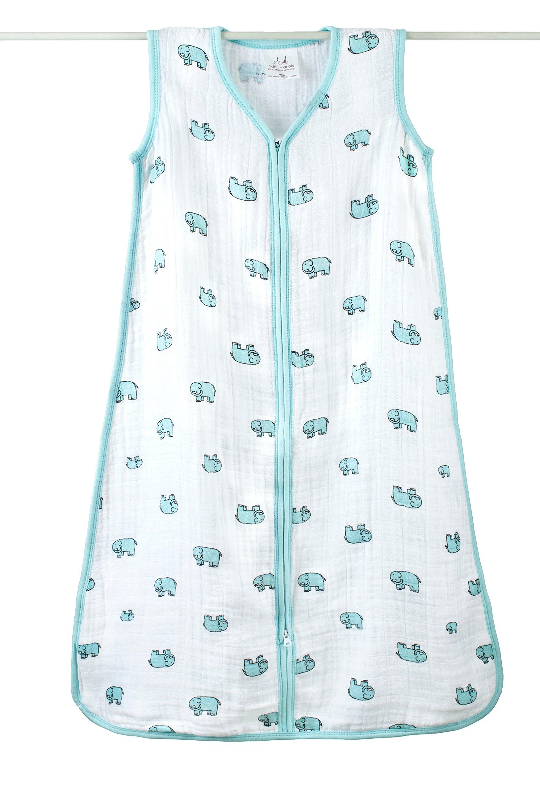 aden + anais Classic Sleeping Bag, 100% Cotton Muslin, Wearable Baby Blanket,