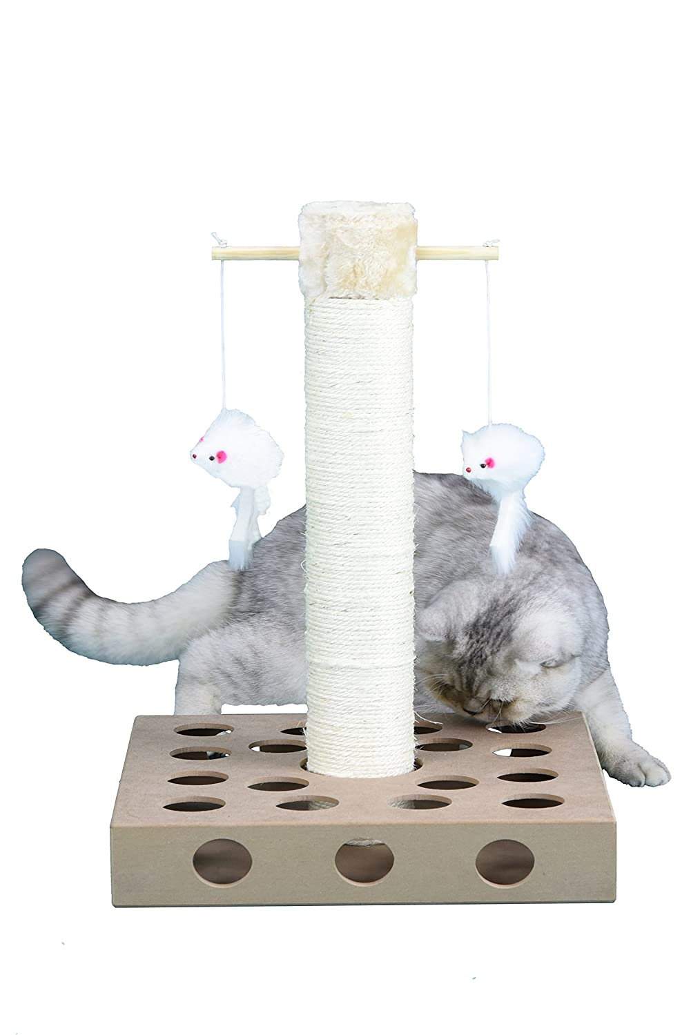Go Pet Club IQ Busy Box Cat Tree Scratcher SF062