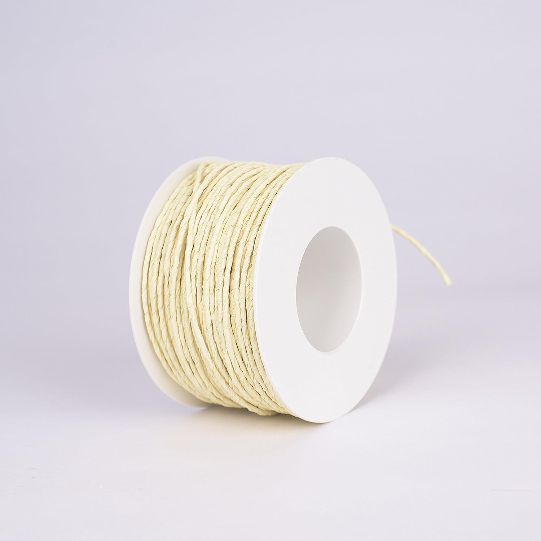 Inter Flowers - inalámbrico de papel de diámetro 2 mm, 100 m de ...