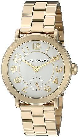 0e0af1997e68c Amazon.com: Marc Jacobs Women's Riley Gold-Tone Watch - MJ3470: Marc Jacobs:  Watches