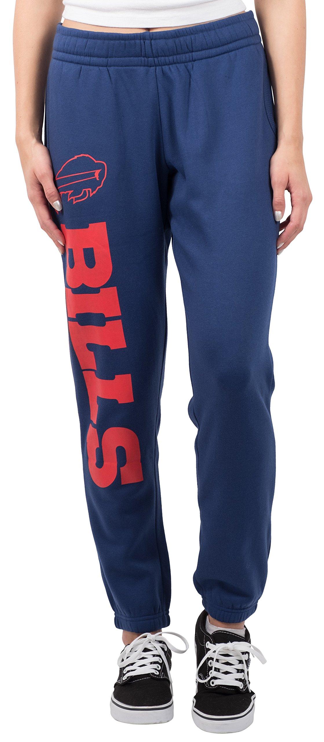 Ultra Game NFL Buffalo Bills Women's Relax Fit Fleece Jogger Sweatpants, Medium, Blue