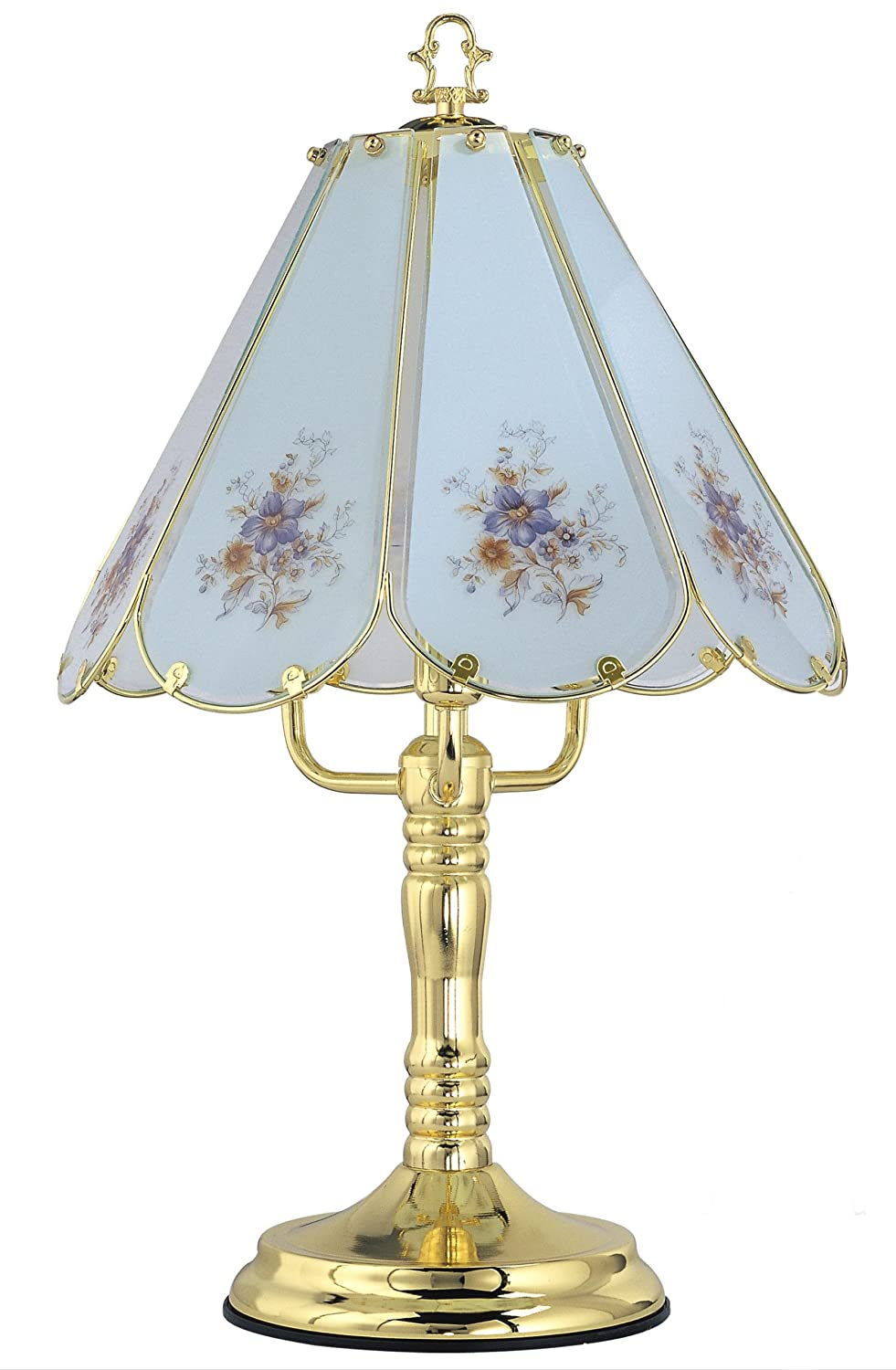 floral brass madison com amazon pmt park touch shade dp decorated glass with polished lamp lighting captured x finish table