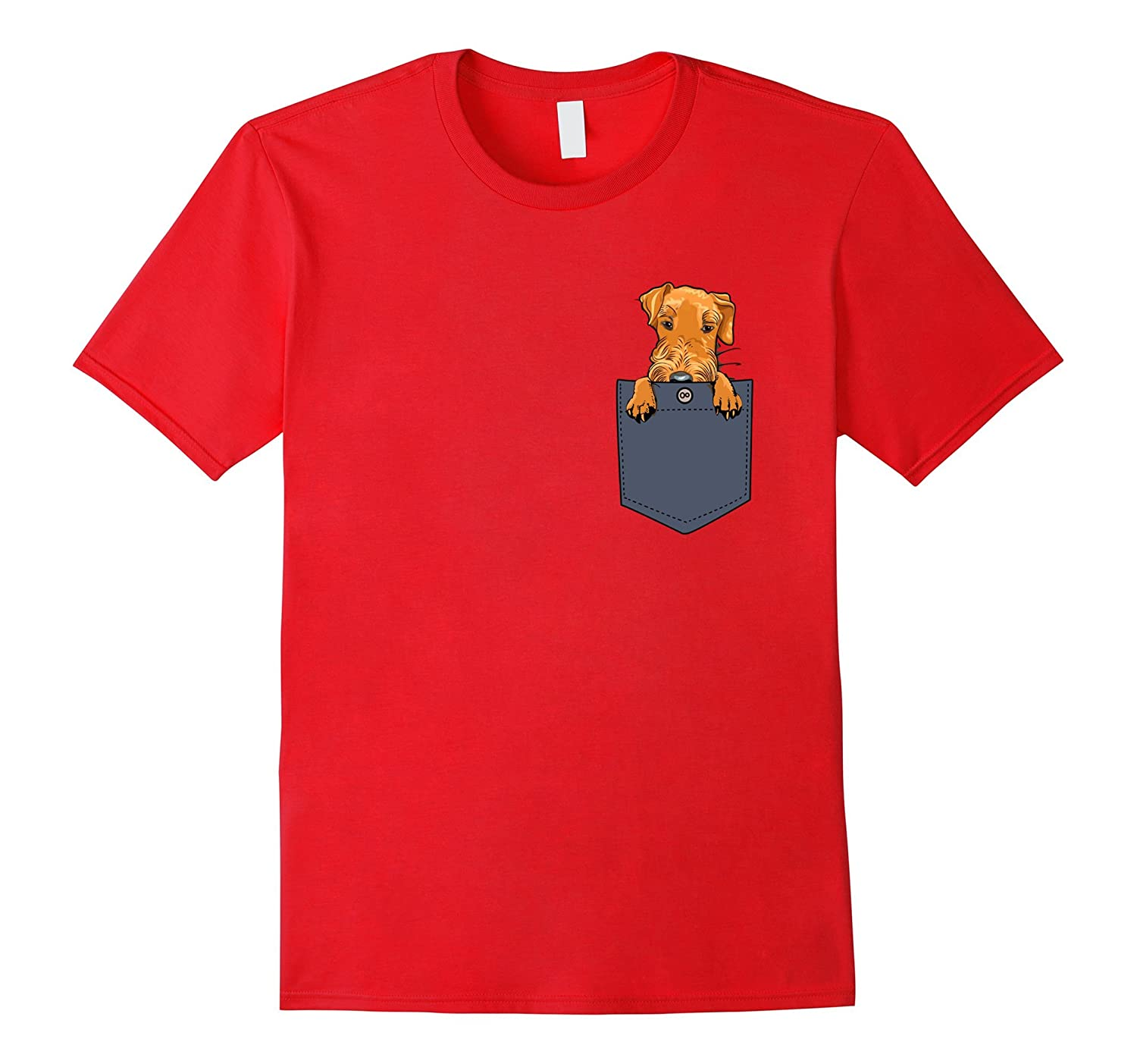 Airedale Terrier Dog in Your Pocket Tshirt Funny Dog Shirt-PL